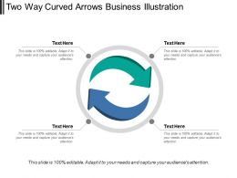 Two Way Curved Arrows Business Illustration