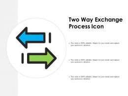 Two Way Exchange Process Icon