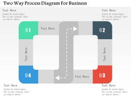 Two Way Process Diagram For Business Flat Powerpoint Design