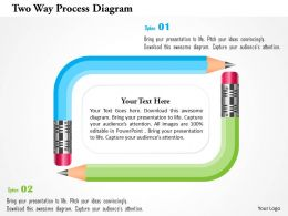 Two Way Process Diagram Powerpoint Templates