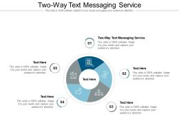 Two Way Text Messaging Service Ppt Powerpoint Presentation Gallery Graphics Cpb