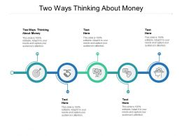 Two Ways Thinking About Money Ppt Powerpoint Presentation Infographics Cpb