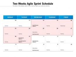 Two Weeks Agile Sprint Schedule