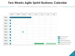 Two Weeks Sprint Product Planning Development Timeline Business
