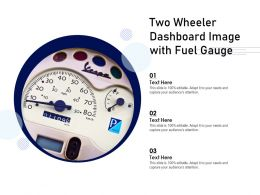 Two Wheeler Dashboard Image With Fuel Gauge