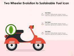 Two Wheeler Evolution To Sustainable Fuel Icon