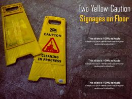 Two Yellow Caution Signages On Floor