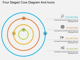 tx Four Staged Core Diagram And Icons Flat Powerpoint Design