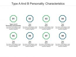 Type A And B Personality Characteristics Ppt Powerpoint Presentation Outline Templates Cpb