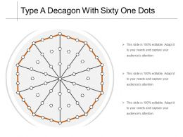 Type A Decagon With Sixty One Dots