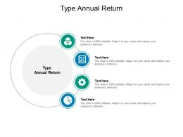 Type Annual Return Ppt Powerpoint Presentation Portfolio Design Inspiration Cpb
