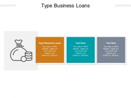 Type Business Loans Ppt Powerpoint Presentation Pictures Themes Cpb