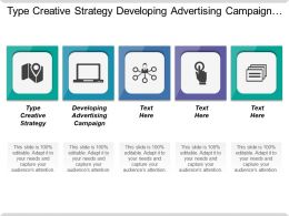 Type Creative Strategy Developing Advertising Campaign Content Marketing