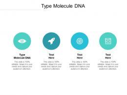 Type Molecule DNA Ppt Powerpoint Presentation Slides Design Inspiration Cpb