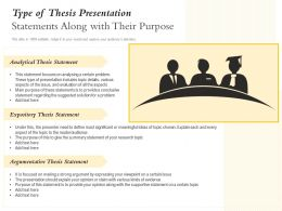 Type Of Thesis Presentation Statements Along With Their Purpose