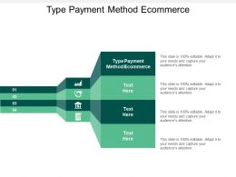 Type Payment Method Ecommerce Ppt Powerpoint Presentation Model Icons Cpb