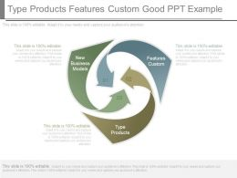 Type Products Features Custom Good Ppt Example