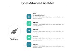 Types Advanced Analytics Ppt Powerpoint Presentation File Structure Cpb