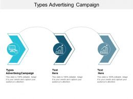 Types Advertising Campaign Ppt Powerpoint Presentation Infographics Shapes Cpb