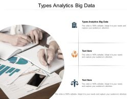 Types Analytics Big Data Ppt Powerpoint Presentation Ideas Background Images Cpb