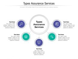 Types Assurance Services Ppt Powerpoint Presentation File Graphics Pictures Cpb