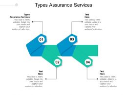 Types Assurance Services Ppt Powerpoint Presentation Gallery Template Cpb