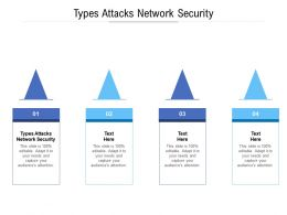 Types Attacks Network Security Ppt Powerpoint Presentation Diagram Templates Cpb