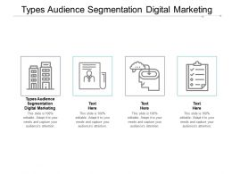 Types Audience Segmentation Digital Marketing Ppt Powerpoint Presentation Model Styles Cpb