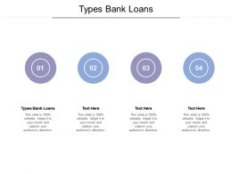 Types Bank Loans Ppt Powerpoint Presentation Gallery Background Image Cpb
