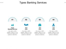 Types Banking Services Ppt Powerpoint Presentation Show Pictures Cpb