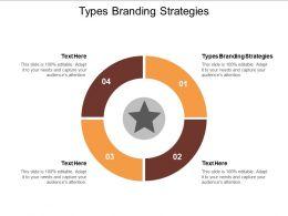 Types Branding Strategies Ppt Powerpoint Presentation Model Visuals Cpb