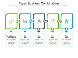 Types Business Combinations Ppt Powerpoint Presentation Icon Deck Cpb