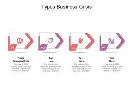 Types Business Crisis Ppt Powerpoint Presentation Model Themes Cpb