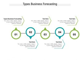 Types Business Forecasting Ppt Powerpoint Presentation Icon Introduction Cpb