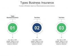 Types Business Insurance Ppt Powerpoint Presentation Layouts Graphic Tips Cpb