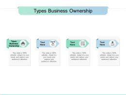 Types Business Ownership Ppt Powerpoint Presentation Ideas Example File Cpb