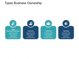Types Business Ownership Ppt Powerpoint Presentation Portfolio Picture Cpb