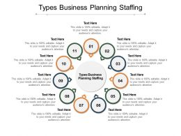 Types Business Planning Staffing Ppt Powerpoint Presentation Samples Cpb