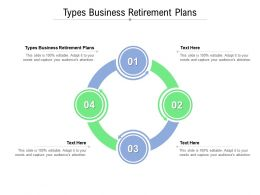 Types Business Retirement Plans Ppt Powerpoint Presentation File Introduction Cpb