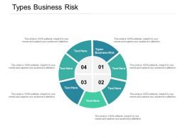 Types Business Risk Ppt Powerpoint Presentation Gallery Graphic Tips Cpb