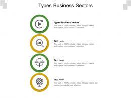 Types Business Sectors Ppt Powerpoint Presentation Portfolio Cpb