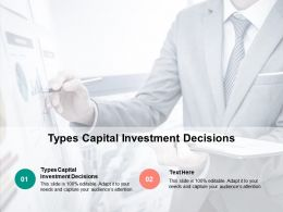 Types Capital Investment Decisions Ppt Powerpoint Presentation Layouts Picture Cpb