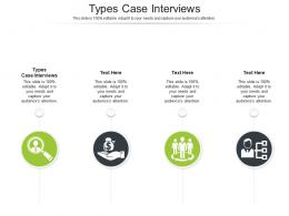 Types Case Interviews Ppt Powerpoint Presentation Pictures Example Cpb