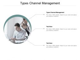 Types Channel Management Ppt Powerpoint Presentation Infographic Template Themes Cpb