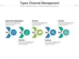 Types Channel Management Ppt Powerpoint Presentation Show File Formats Cpb