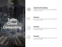 Types Cloud Computing Ppt Powerpoint Presentation Ideas Files Cpb
