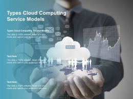 Types Cloud Computing Service Models Ppt Powerpoint Presentation Summary Inspiration Cpb