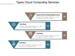 Types Cloud Computing Services Ppt Powerpoint Presentation Slides Graphics Template Cpb
