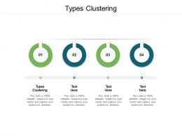 Types Clustering Ppt Powerpoint Presentation Infographic Template Information Cpb