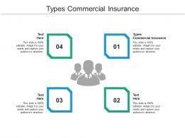 Types Commercial Insurance Ppt Powerpoint Presentation Outline Show Cpb